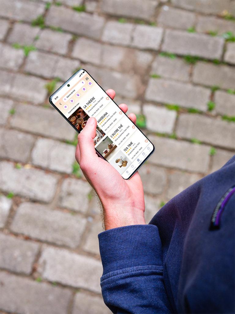 utilisateur sur l'application